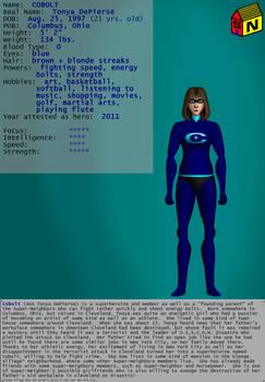 Super-Neighbors Character Bio:  Cobolt