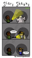 Psych: Scary Shawny Comic by OneWingedMuse