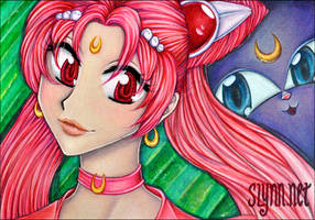 Chibi Moon + Luna P by disj0inted