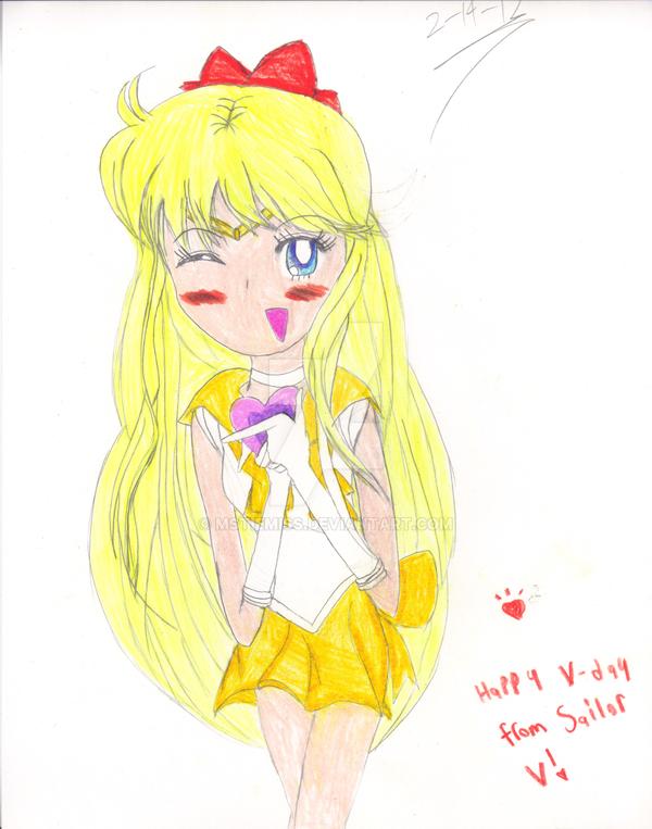 Valentine's Day Sailor Venus fanart by MSTieMiss