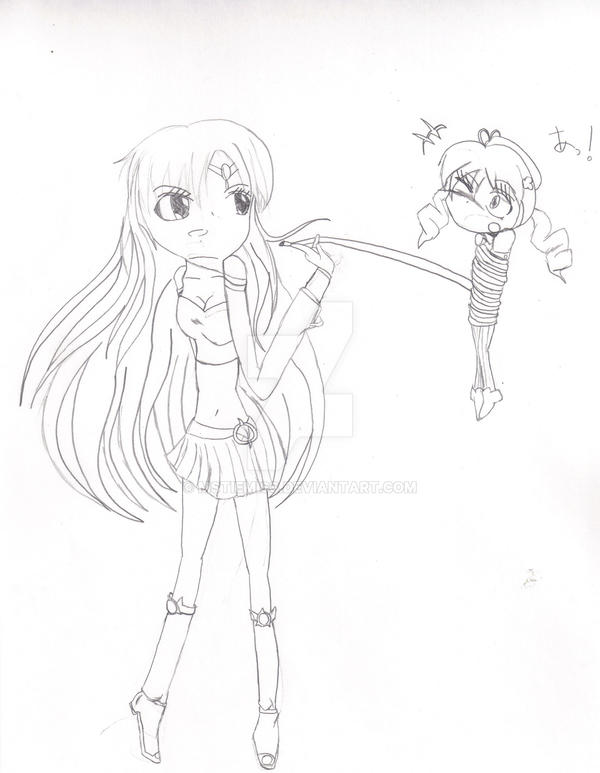 Nova and Mami (Original drawing) by MSTieMiss