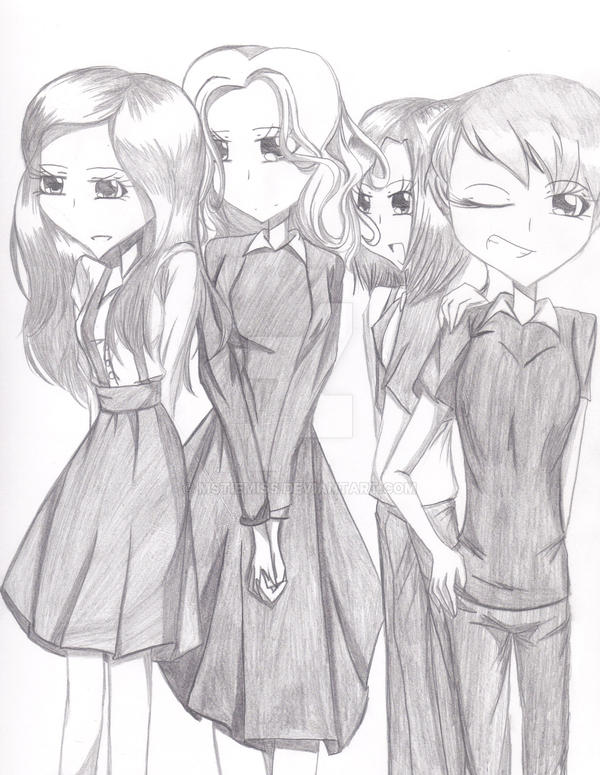 The four young maidens of Granite Orphanage by MSTieMiss