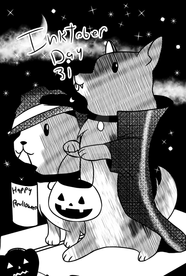 Inktober Day 31 | Vanilla Bean and Starry Butt by MSTieMiss