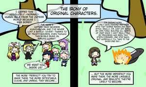 The irony of original characters...