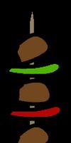 Kebab Skewer Prop by Spaztique