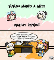 Yuyuko Makes A Mess: Walfas Edition by Spaztique