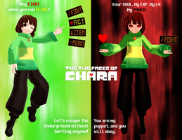 [Undertale MMD] Two Faces of Chara *SPOILERS* by Spaztique