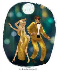 Ken and Barbie Disco Party