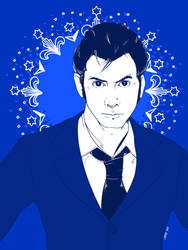 David Tennant as The Doctor by Leesha007