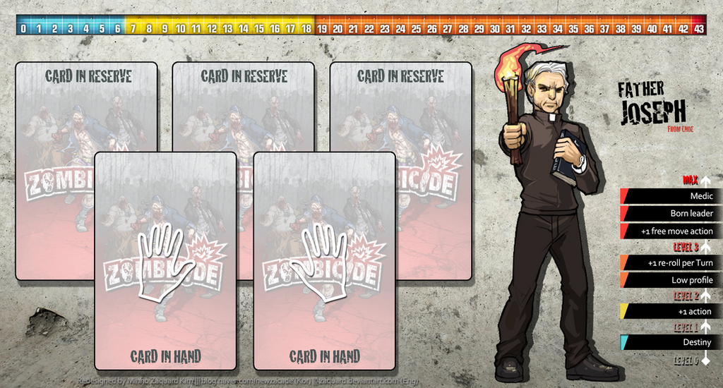 Zombicide Redesigned Character Sheet - Joseph by ZAQUARD
