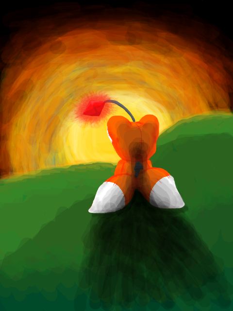 Tails Doll relaxing by DarkCream