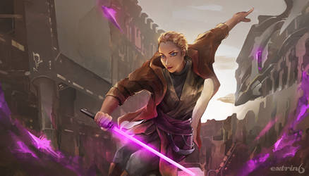 Anita from the Suikoden series as a Jedi Knight by extrin6