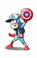 dipper Captain america by DIEGOZkay