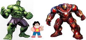 steven Hulk y hulkbuster by DIEGOZkay
