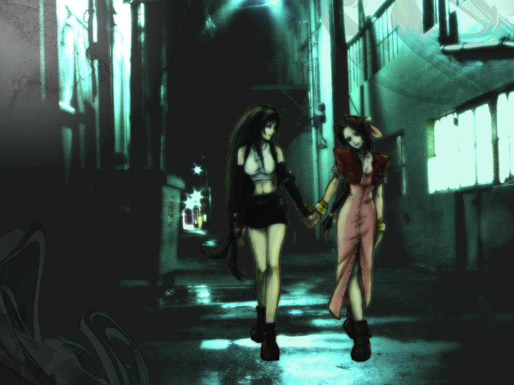 Aeris And Tifa Wallpaper By Aimoo On DeviantArt