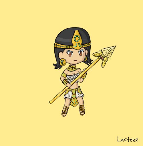 Pharaoh Nidalee Chinese Art
