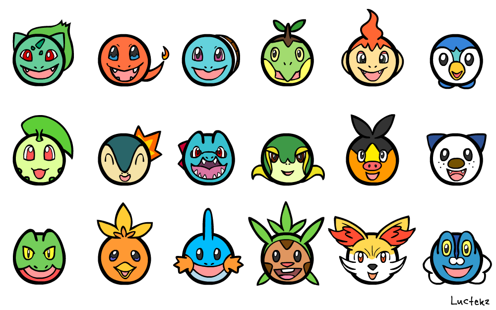 Pokemon Starters by Luctekz