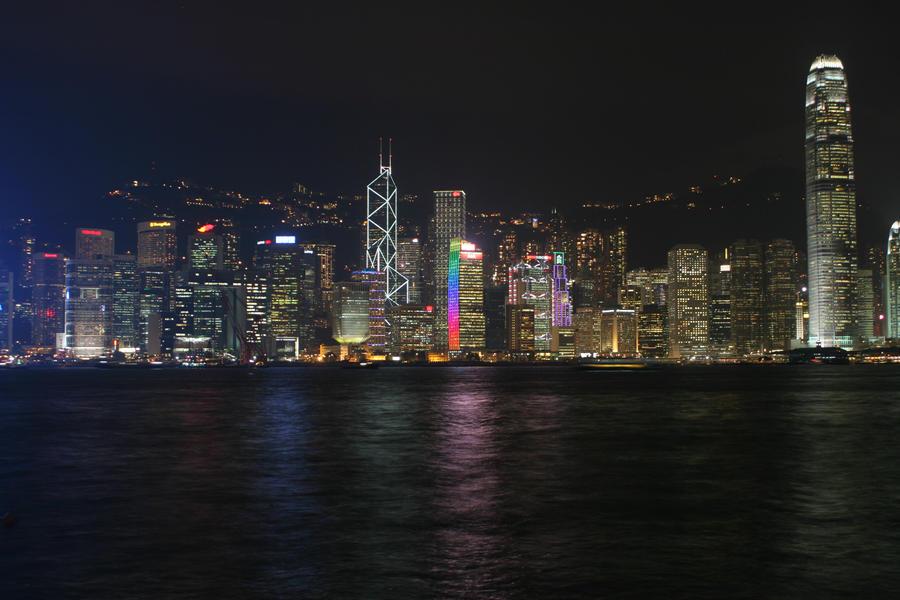Hong Kong - Harbour Cityscape by Deidara1000