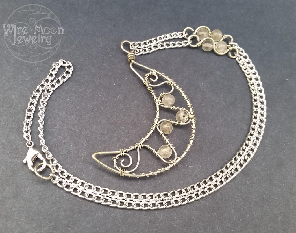 Handmade Wire Wrapped Crescent Moon Necklace by WireMoonJewelry on ...