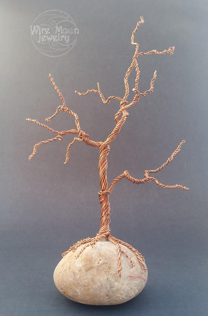 Handmade Copper Wire Wrapped Tree Sculpture White by WireMoonJewelry ...