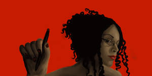 All in Red - Another Self-Portrait