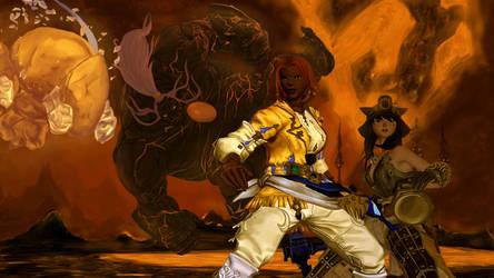 Scene de Minage (Final Fantasy 14 Fanart)