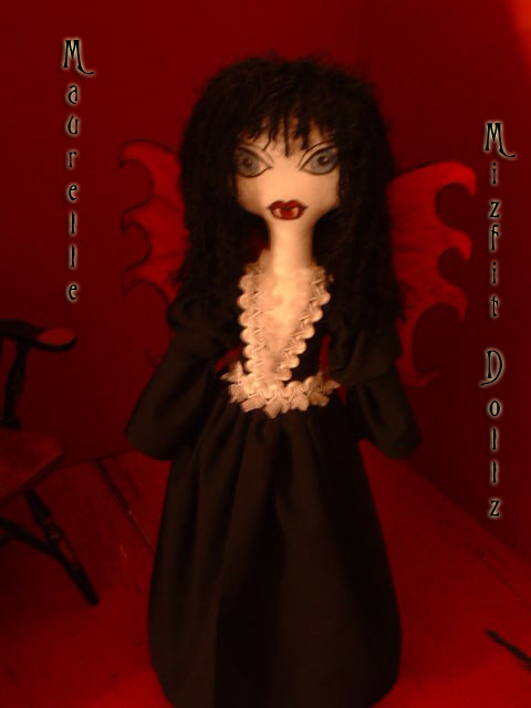 Gothic Fairy Vampire Maurelle by DollzMaker