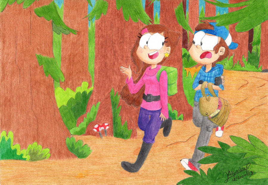2nd place: Back to S-cool with Mabel and Dipper by aleprettycat on ...
