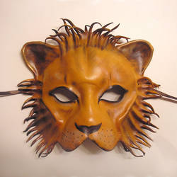 Leather Mask of a a Lion