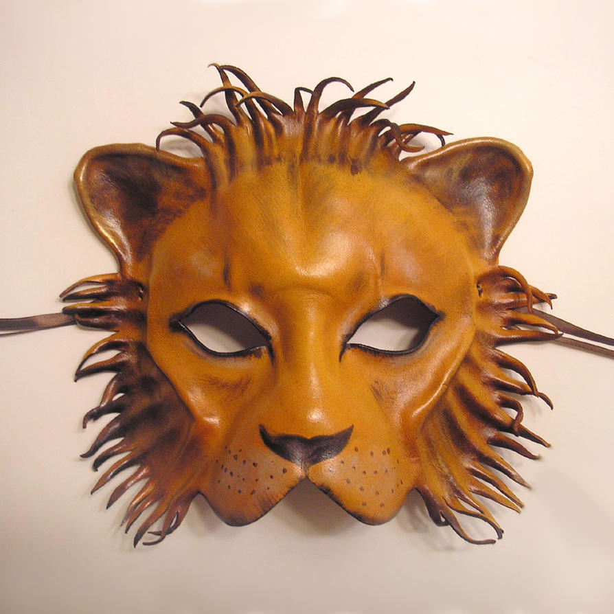 Leather Mask of a a Lion by teonova