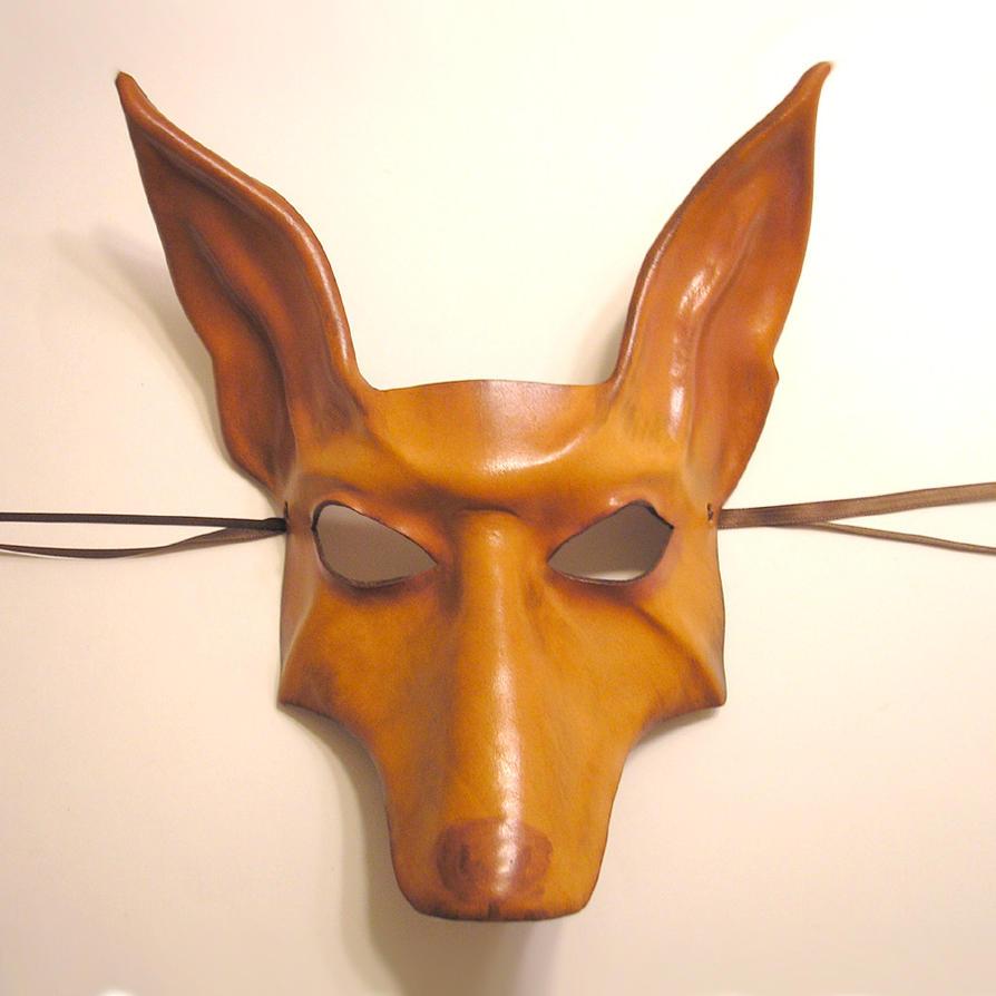 Leather Mask - Pharaoh Hound by teonova