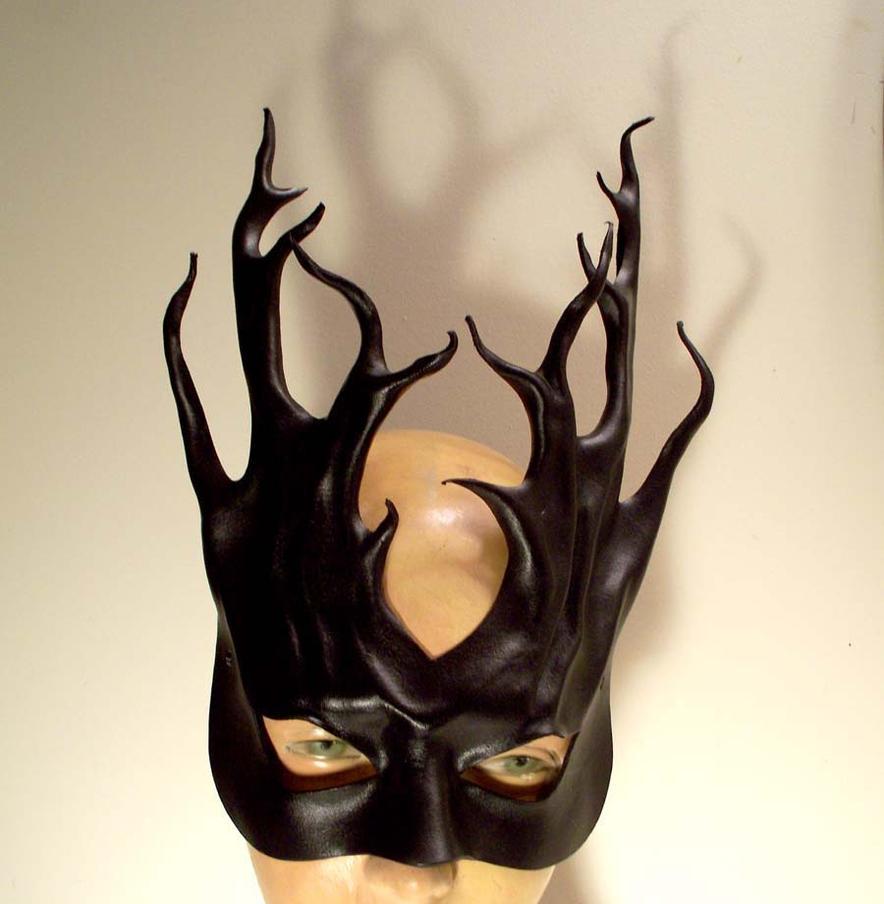 black leather tendrils mask by teonova on deviantart