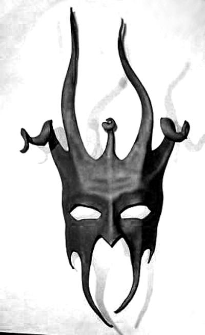 Leather Devil Jester Mask by teonova
