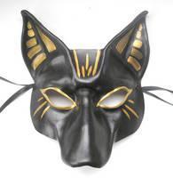 Bast Egyptian Cat Leather Mask by teonova