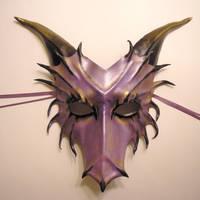 Purple Leather Dragon Mask by teonova