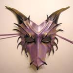Purple Leather Dragon Mask