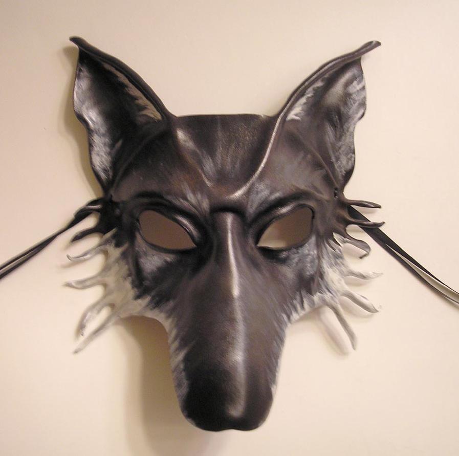 Leather Mask...Grey Wolf by teonova