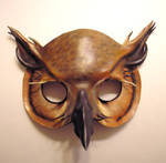 Leather Horned Owl Mask 1