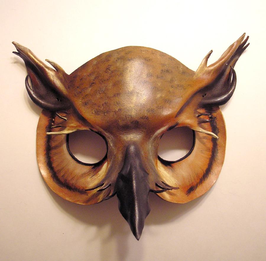 Leather Horned Owl Mask 1 by teonova