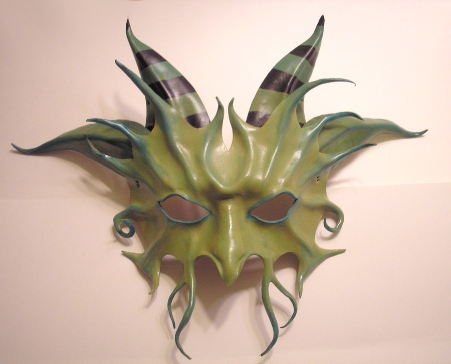 Horned Leather Mask..Custom by teonova
