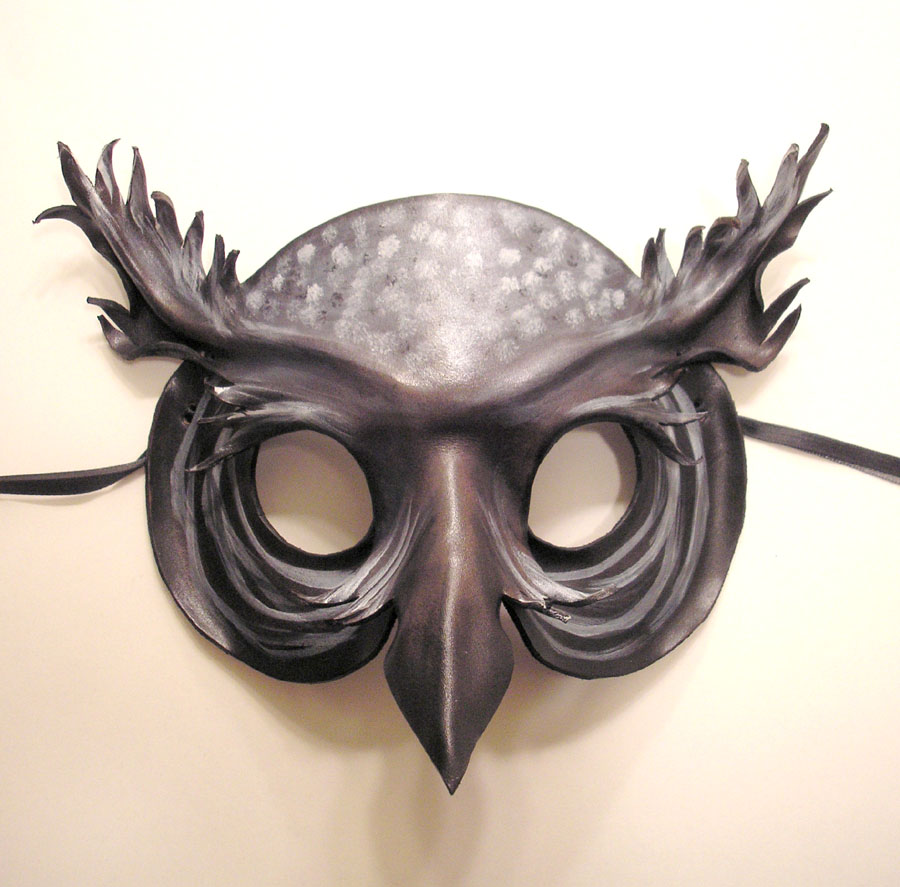 Spirit Owl Leather Mask by teonova