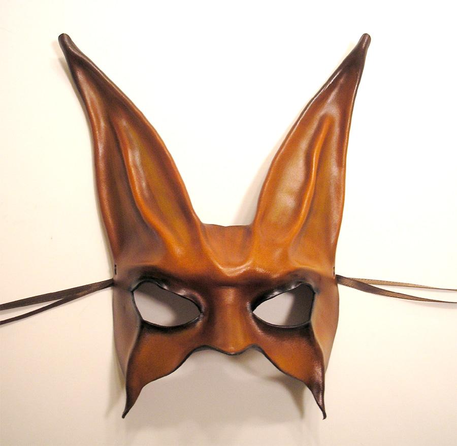 leather rabbit mask brown blk by teonova on deviantart