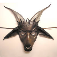 Billy Goat Gruff Leather Mask by teonova