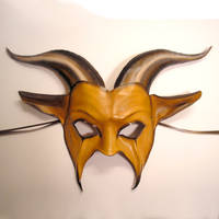 Leather Goat Mask, Palomino 2 by teonova