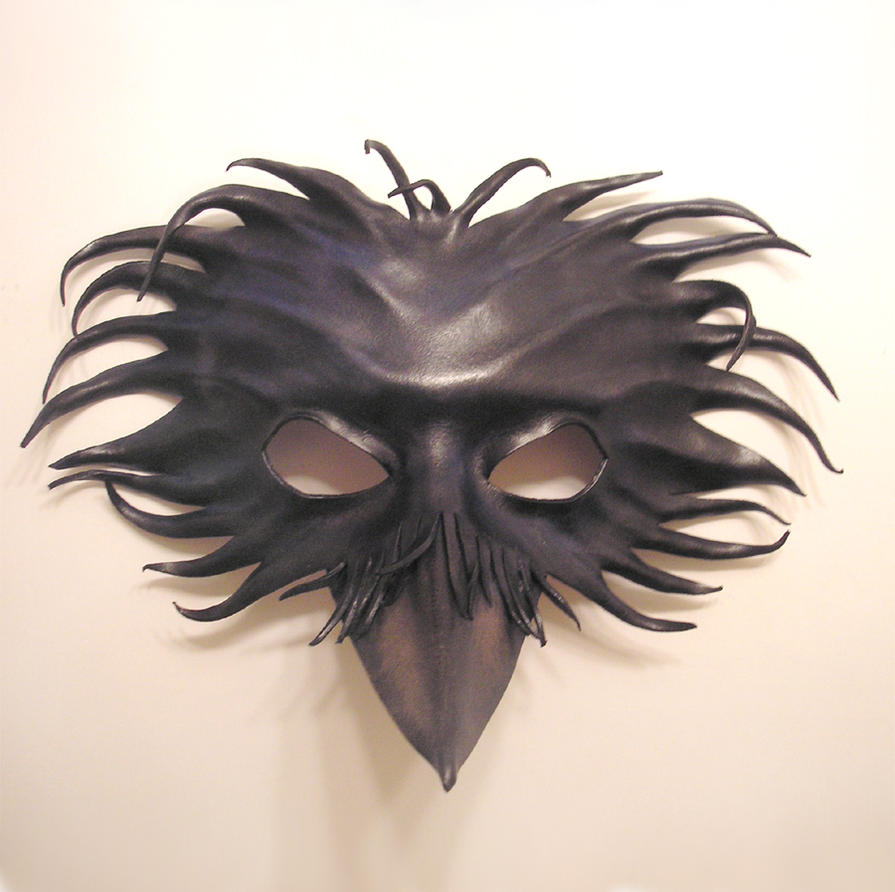 Raven Leather Mask by teonova