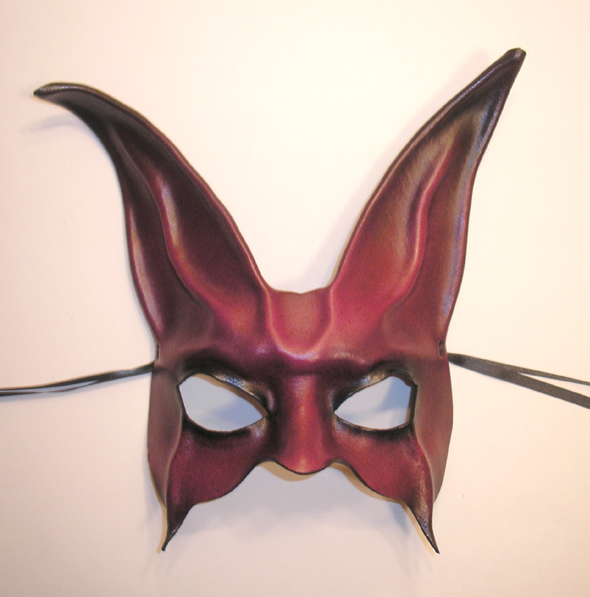 leather rabbit mask purple red by teonova on deviantart