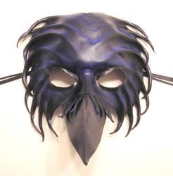 Leather Bird Mask Crow Raven