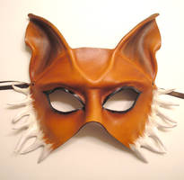 Fox Half Face Mask Leather by teonova