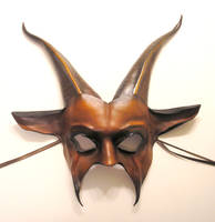 Leather Goat Mask in brown by teonova