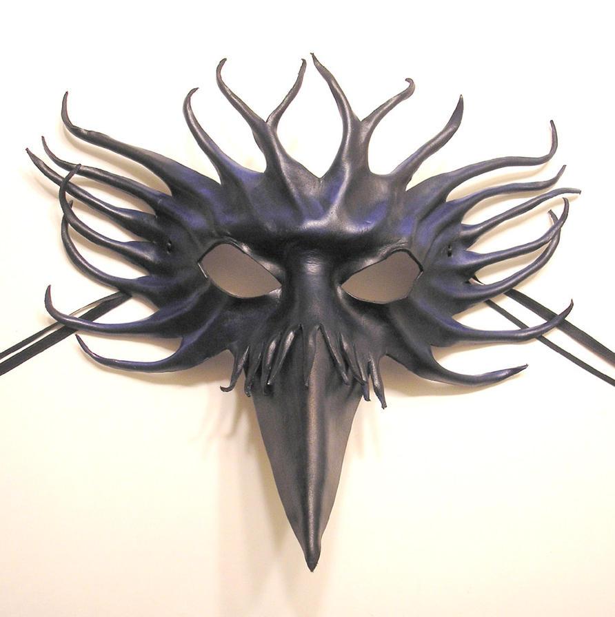 Bird Leather Mask Raven Crow Black Blue by teonova on DeviantArt